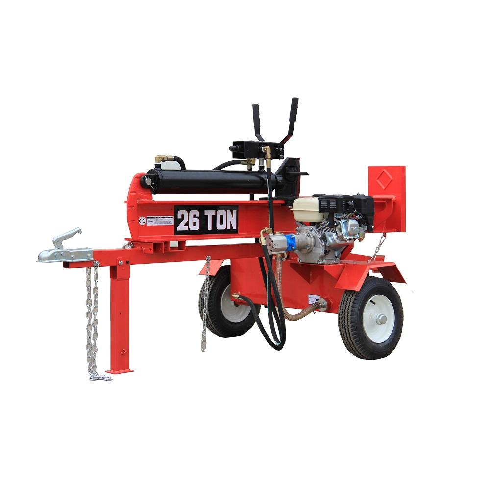 26ton Horizontal And Vertical gasoline/petrol mobile wood chipper log splitter