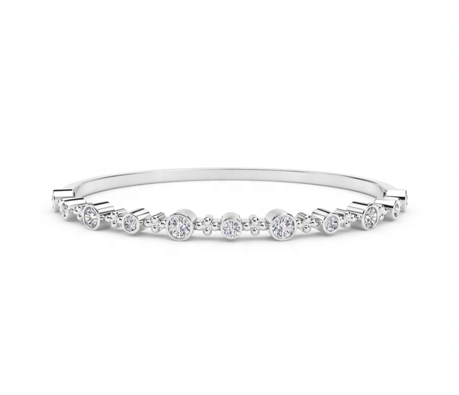 Zmhyy — bracelet de collection en diamant, diamant en or massif 18k, création de laboratoire, article ample, qualité VS