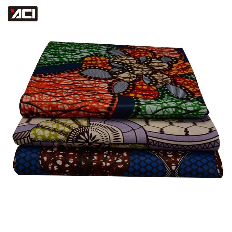 ACI New Design African Prints Super Wax Hollandais Belgique Ghana Kente Cloth Fabric