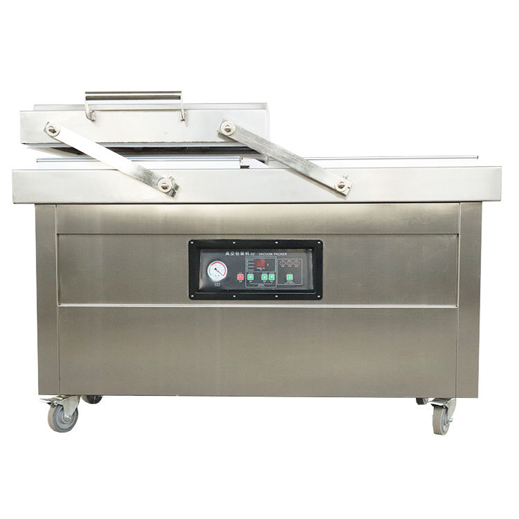 Hot selling dz 600 double chamber plastic vacuum sealing machine for food