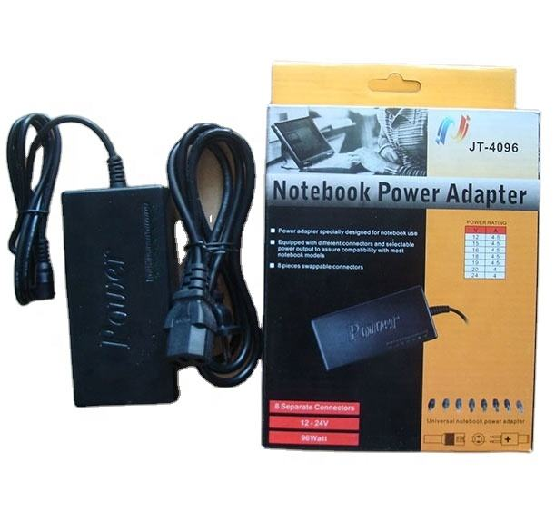 96W Multi-Function Universal AC DC Power Adapter Charger 15V-24V for Notebook Laptop