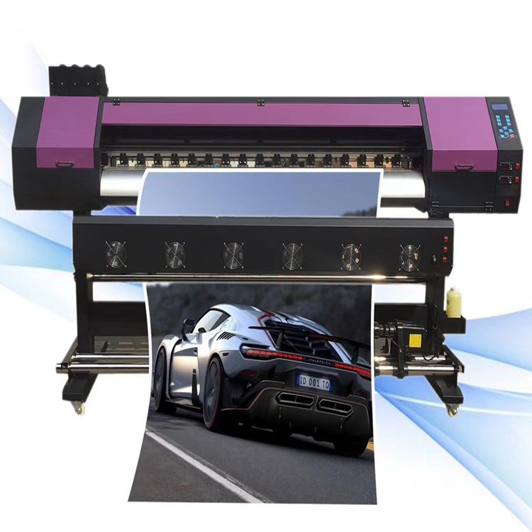 2 Heads 50 Square Meters DX5 DX7 XP600 5113 Head Cheapest 1.6M 1.8M 3.2M eco solvent printer