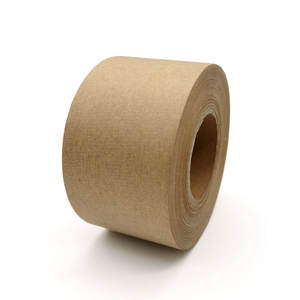 Eco Friendly Water Activated Custom Brown Kraft Paper Tape For Carton Sealing