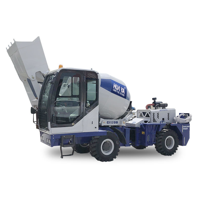 2cbm cement sand mortar avtomat mixer with vehicle truck loading hopper