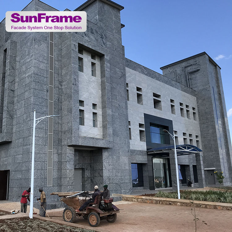 Sun Frame professional Exterior Facade glass curtain wall factory one stop service supply aluminum curtain wall glass facade