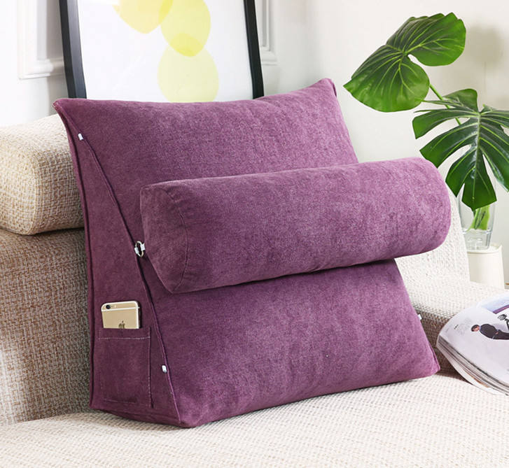 Adjustable useful soft bed head backrest back cushion pad