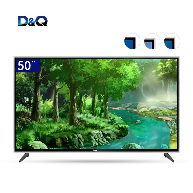 2 colors in stock 50 inch HD UHD FHD explosion-proof television tempered glass android LED/LCD 4K smart tv