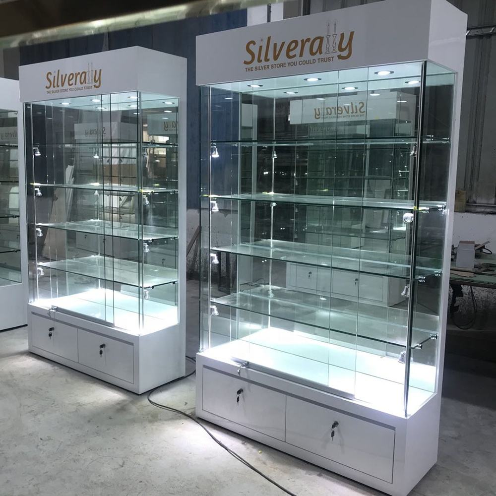 boutique display cabinet and used glass showcases and display cases