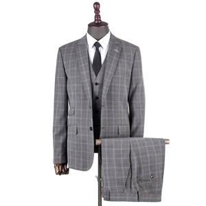 Men/'s Chinese tunic suit 3PCS Formal Slim Fit Blazer Jacket Pants Waistcoat L
