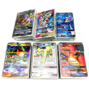 100Pcs Geen Herhaling Pokemone Card 95 Gx + 5 Mega Engels Bling Card Game Trading Card Kid Speelgoed