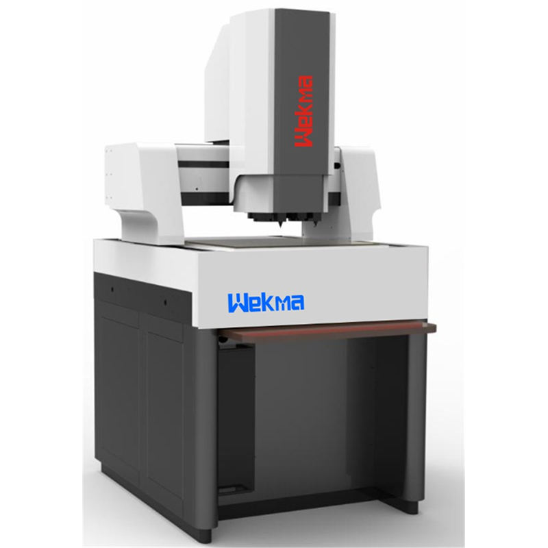 The dual-station design the optical scanning and the contact probe operate at the same time measuring machine