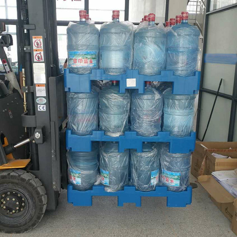 Platform Stacking Water Bottle Pallet For 5 Gallon Bottle