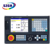 cheap 2 axis CNC lathe controller Lathe turning machine two axis control panel complete kit PLC system