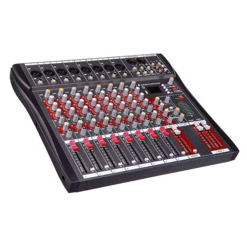 High quality professional digital audio mixer with amplifier mixer USB function dj