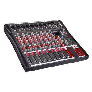 High quality professional digital audio mixer with amplifier mixer bluetooth USB function dj