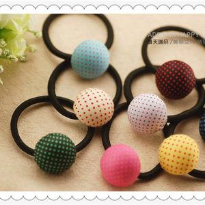 Korean hot idea love hair loop for girls button plush hair ring women's hair accessories