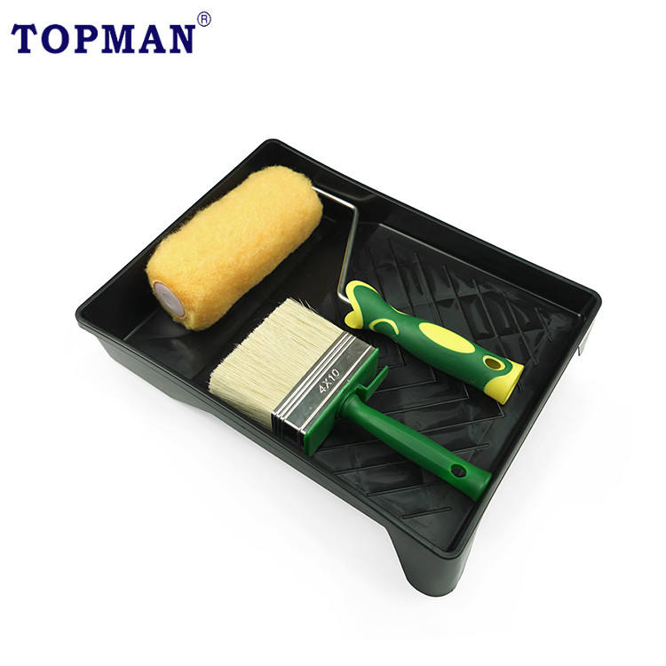 Topman 4pc shed and fence brush roller kit