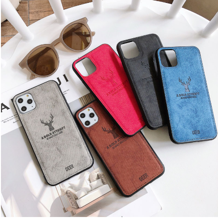 for iphone 11 case bold deer attempt cell phone leather cover,for iphone 11 pro cloth magnetic case