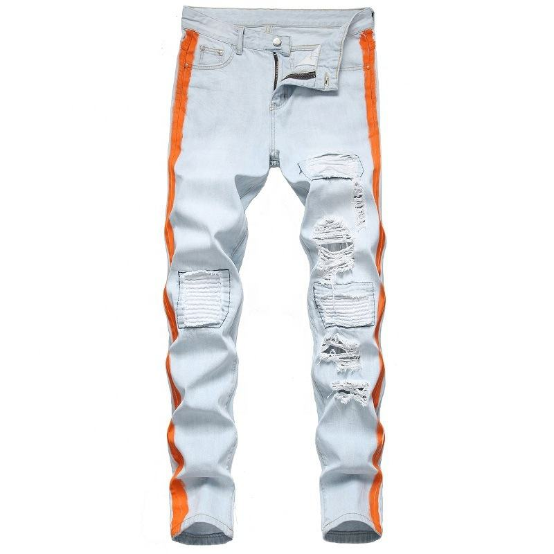Fashion new mens jeans slim fit demin trousers