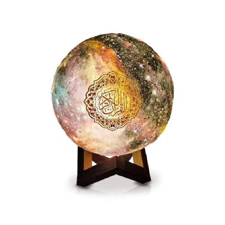 Wireless Smart Lunar Led Quran Moon Lamp Speaker Gooseneck Changing Moon Lamp 3d Holy Moon Lamp Quran