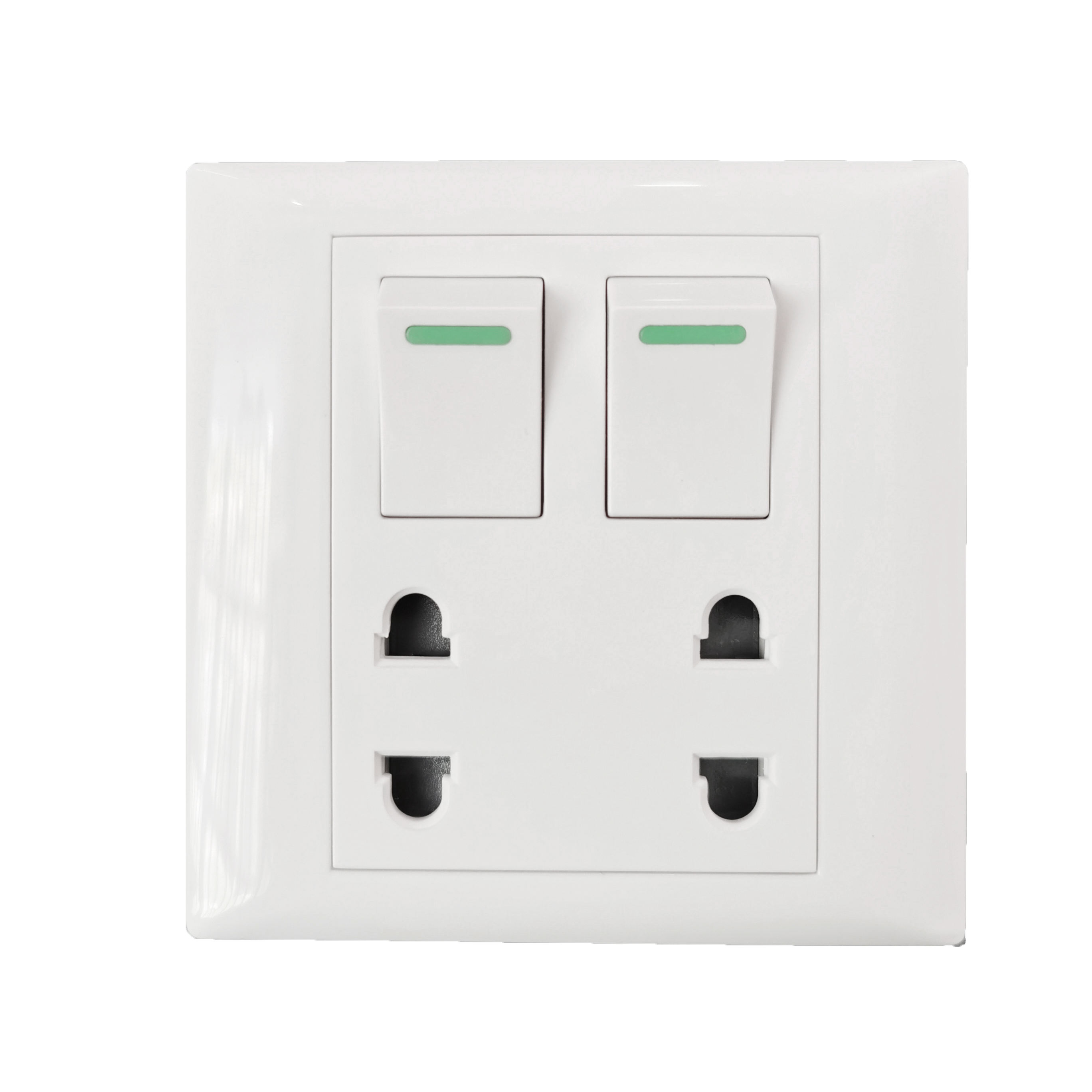 Cambodia 2 switch 2 sockets 4 holes light switch sockets electrical switch socket wall
