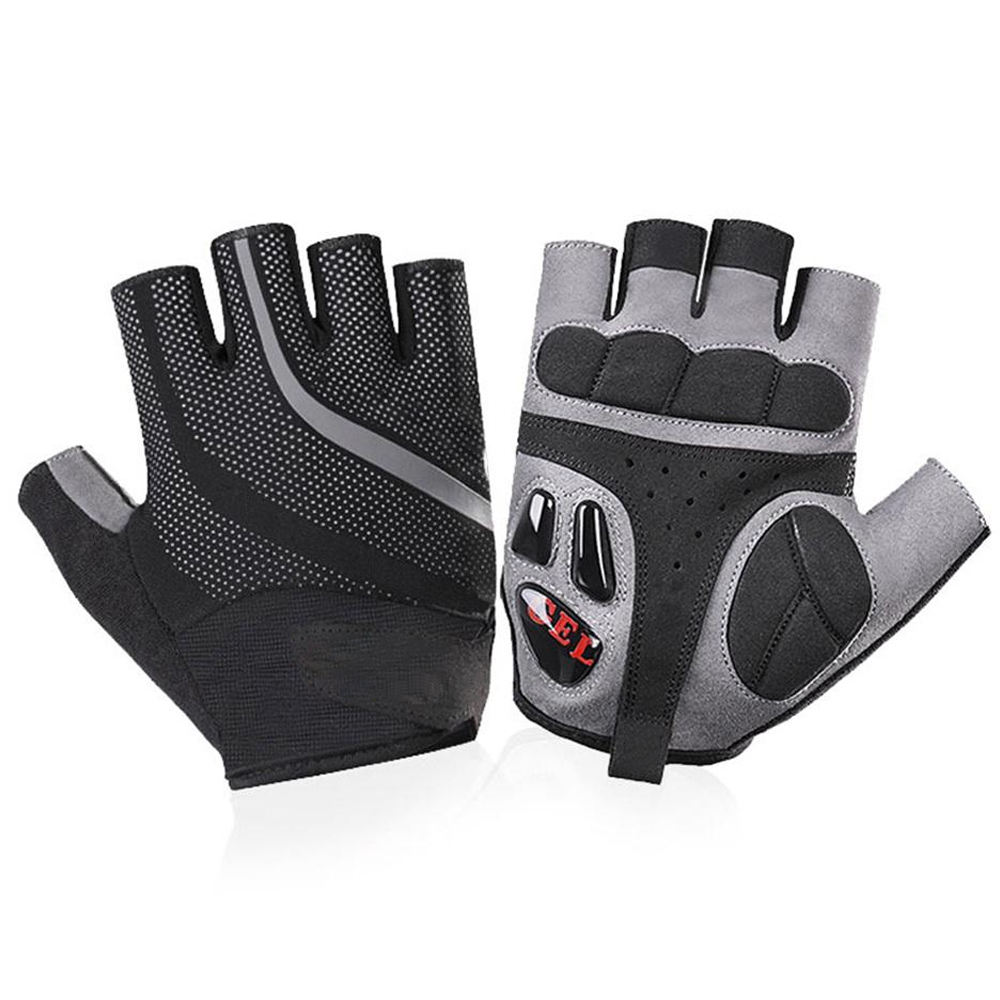 New Design Half Fingers For Bicycle, Gel Padded Bicycle Gloves Unisex Customized Logo