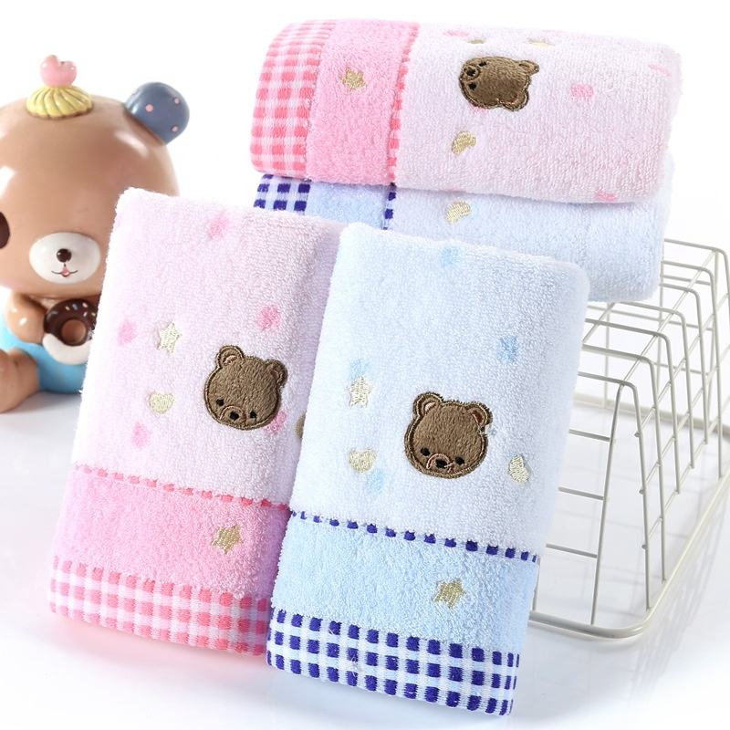 Decorative Soft 100% Cotton Eco Friendly Absorbent Gauze Washcloths Baby Face Towel