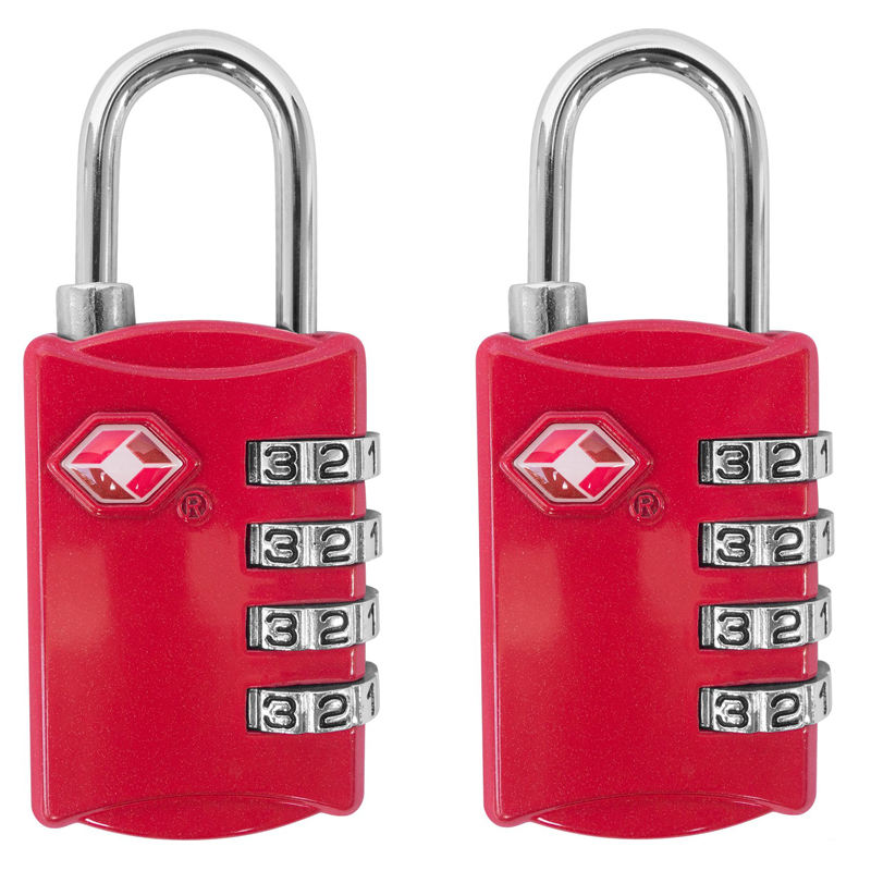 TSA 4 Digit Combination Steel Padlock Luggage Travel Lock