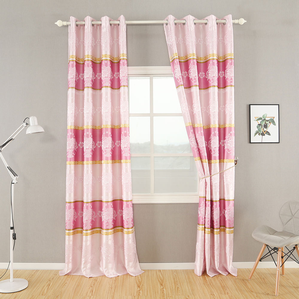 New Design Luxury Jacquard Blackout Curtains Wholesale Home Curtain Window For Living Room