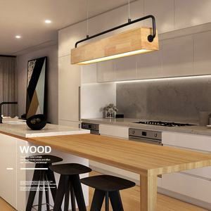 Guangdong industrial 20w 24w office home bar restaurant study led nordic dining wood pendant lights
