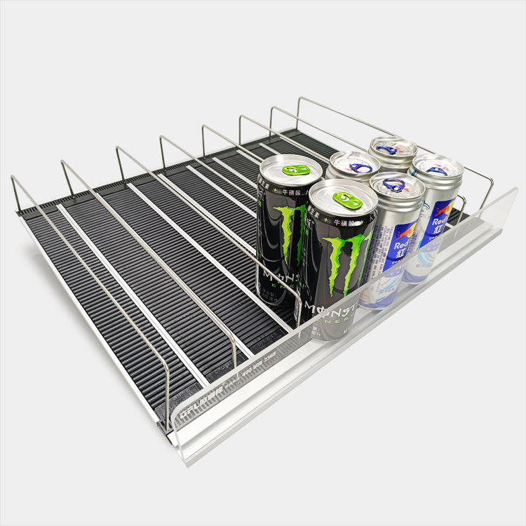 Supermarket roller shelf display cooler shelf beverage roller rack