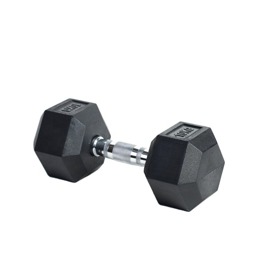 Weightlifting Exercise Water proof build muscles reduce weight PVC iron sand mixture Hexagon 6-side hex adjustable dumbells