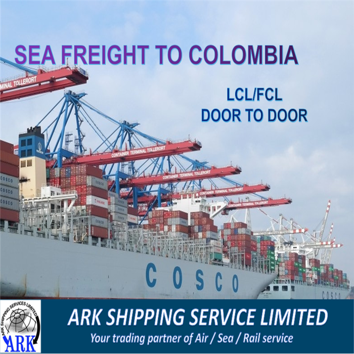 China sea freight shipping service to Colombia delivery container Brokerage Transitario drop shipping