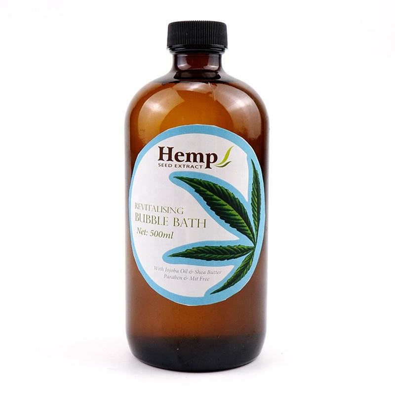 Wholesale OEM/ODM High Quality Muscle Relief Natural Vegan Organic Kids Spa Liquid Hemp Oil Bubble Bath