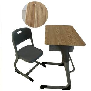 Colourful portable middle school desk and chairs set school