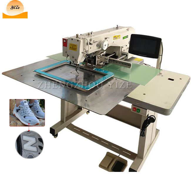 Automatic cnc merrow tacker template sewing machine Computer pattern program sewing machine for shoe zigzag label