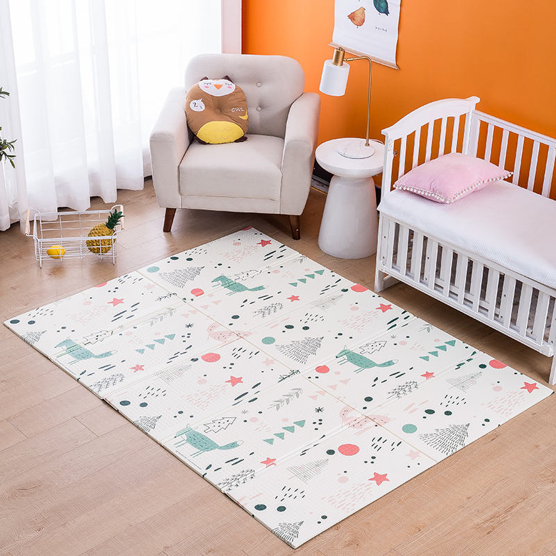 Non-toxic and harmless children cartoon design baby play mat
