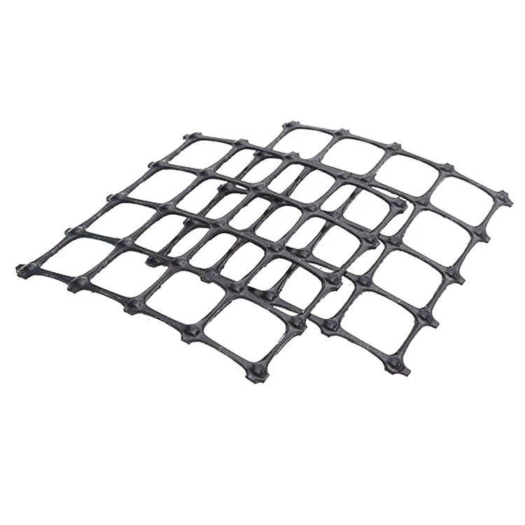 Big mesh PP coated biaxial geogrid price 15KN- 60KN 35-35KN with CE certificate