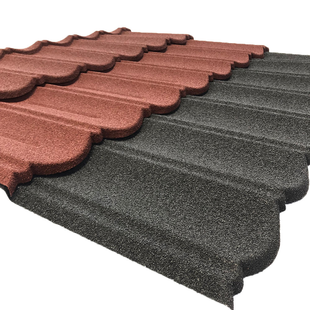building roofing materials lightweight colorful stone coated metal roof tiles