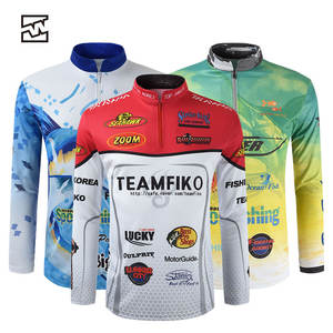 Custom Made UPF 50 Men 100% polyester Lure fishing shirts for men Sublimation Fishing Tournament Jersey