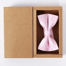 kraft custom bow tie packaging box