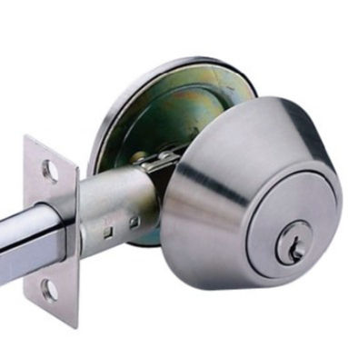 Single & double cylinder deadbolt lock stainless steel material satin chrome finish,Other finish door lock are available