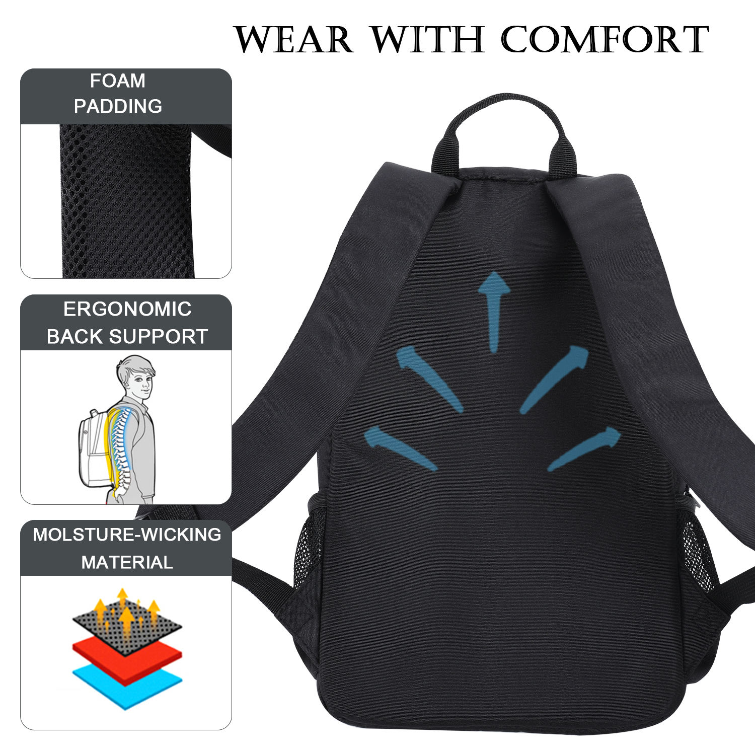 Waterproof Laptop Computer Backpack Travel