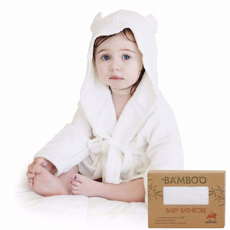 kids luxury organic bamboo woven terry hood wrap bath towel robe bathrobe with hooded for baby toddler children