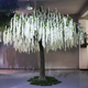 White Large Outdoor Artificial Wisteria Flower Tree for Wedding Decoration
