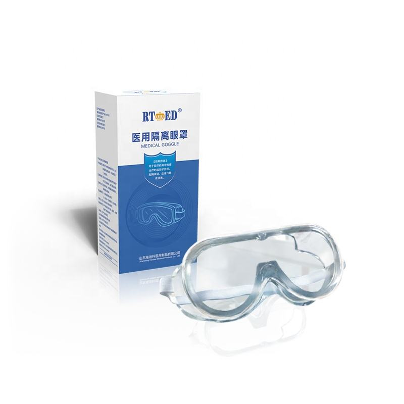Hot sale with cheap price PVC and PC anti-fog material high definition medical goggle