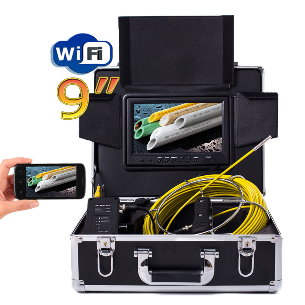 Wireless Endoscope Pipe Sewer Inspection Camera for Android iOS