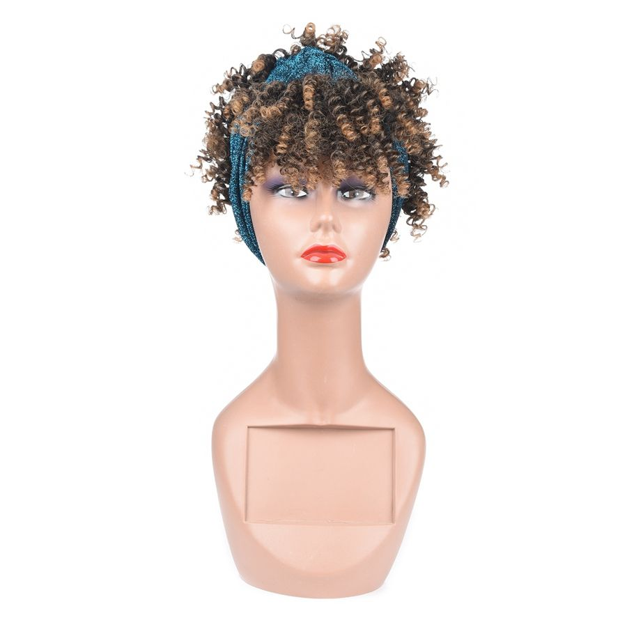 wholesale synthetic wigs hair accessories straight virgin kinky curly attached cap grip synthetic for black women headband wig