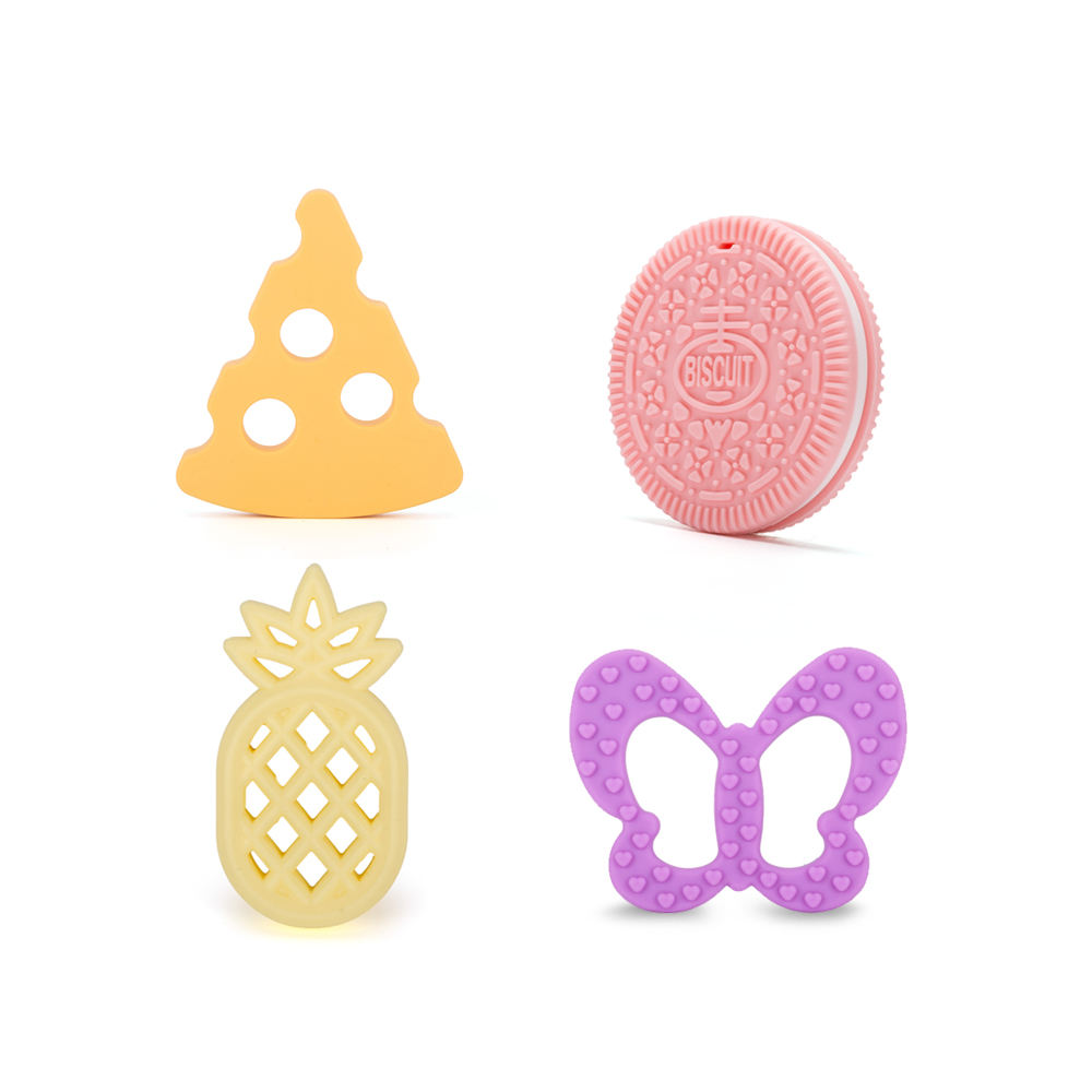 Eco-Friendly Baby Teething Soft Silicone Teether Toy For Pacifier Clip Pendant