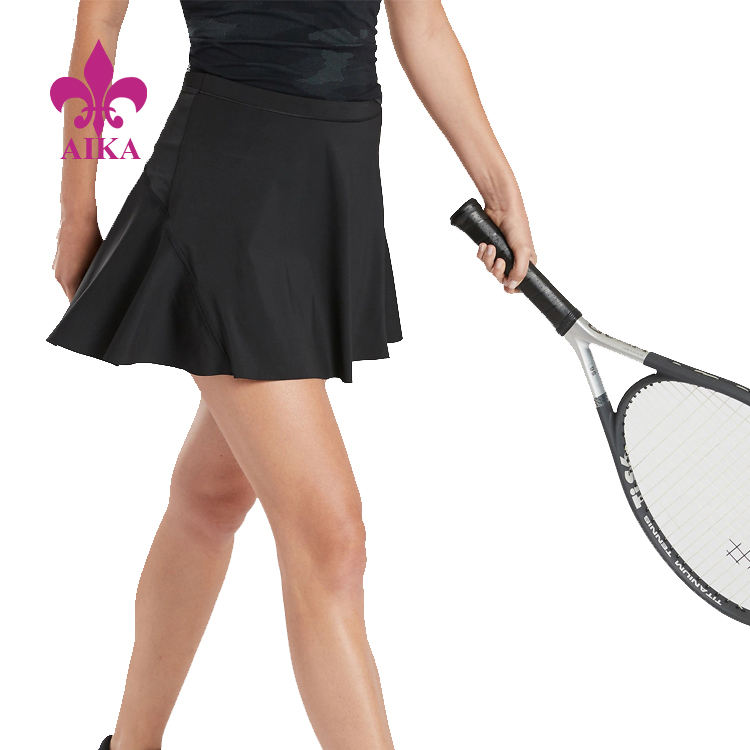 High Quality Custom Women Active Wear Mid Rise Safe Breathable Smooth Tennis Skirt